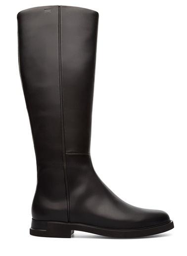 Camper Deri Çizme Siyah